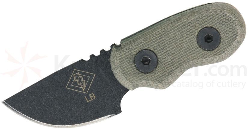 Ontario Ranger Series Little Bird Knife 1.75 inch  Blade, Black Micarta Handles