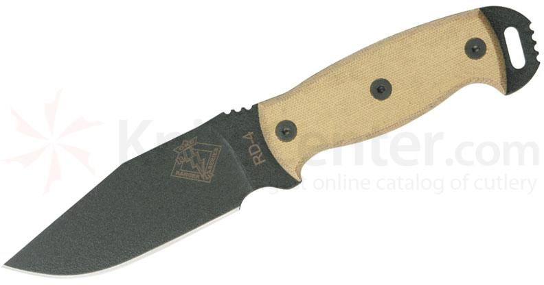Ontario Ranger Series RD4 Ready Detachment 4.5 inch Plain Blade, Tan Micarta Handles