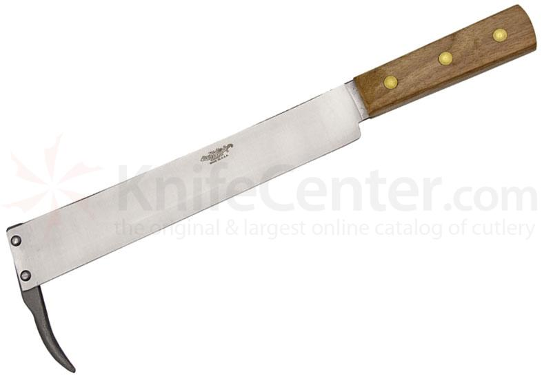 Ontario Old Hickory Beet Field Knife 11 inch Blade with Dig Hook, Hickory Handle