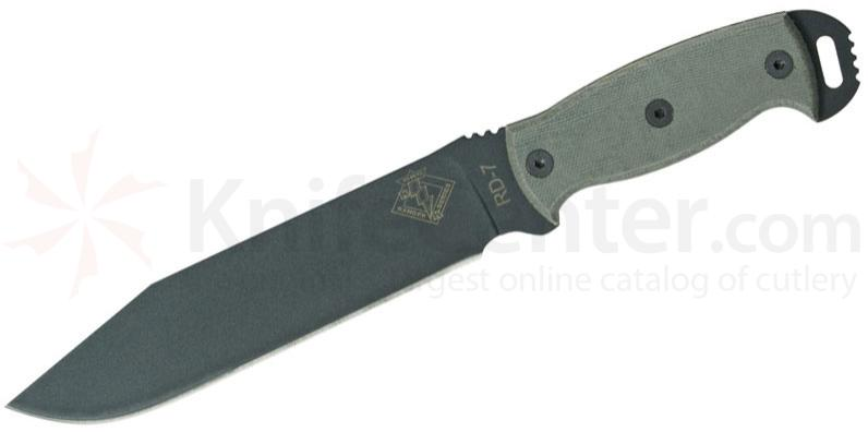 Ontario Ranger Series RD7 Ready Detachment 7.5 inch Plain Blade, Black Micarta Handles