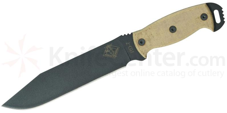 Ontario Ranger Series RD7 Ready Detachment 7.5 inch Plain Blade, Tan Micarta Handles
