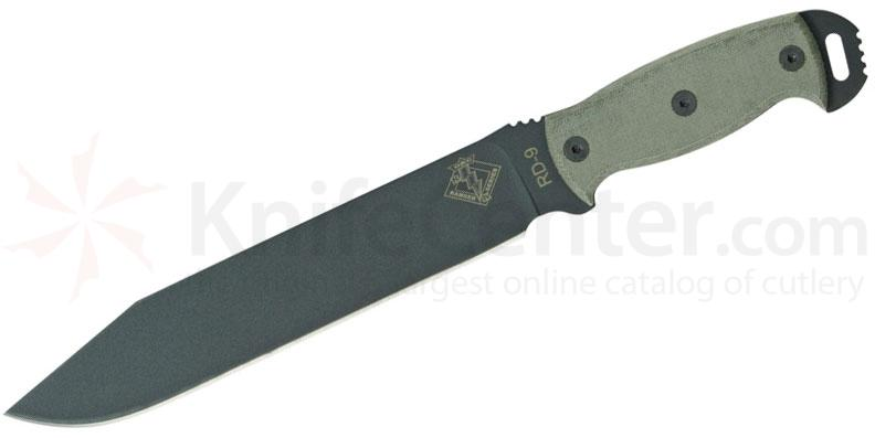 Ontario Ranger Series RD9 Ready Detachment 9.5 inch Plain Blade, Black Micarta Handles
