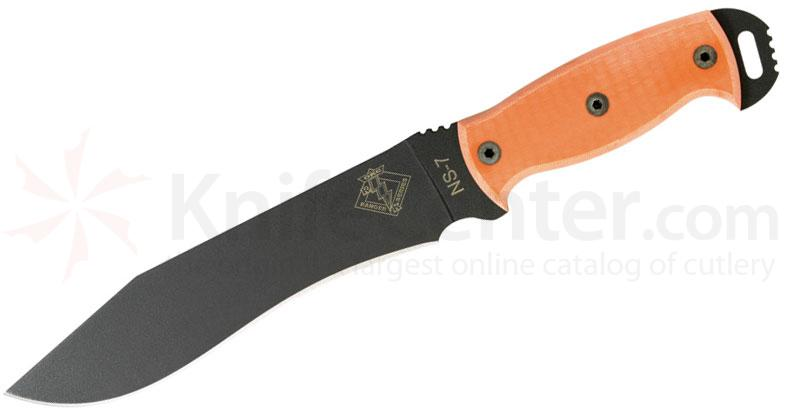 Ontario Ranger Series Night Stalker 7 Fixed 7.5 inch Blade, Orange G10 Handles