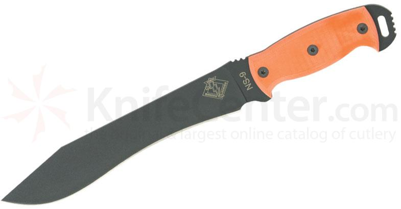 Ontario Ranger Series Night Stalker 9 Fixed 9.5 inch Blade, Orange G10 Handles