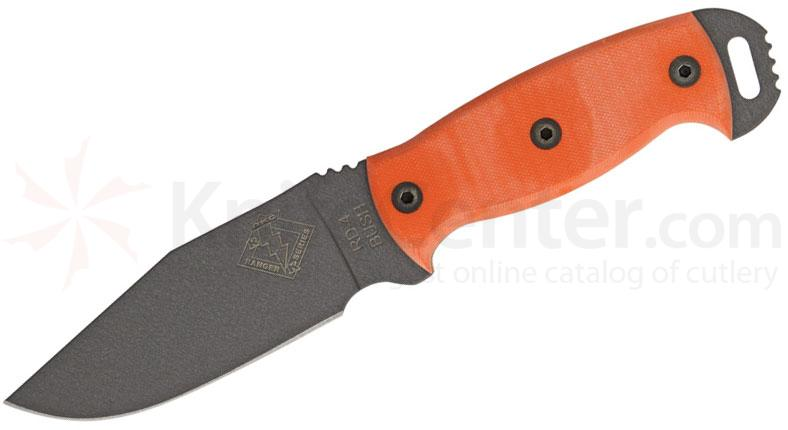 Ontario Ranger Bush Series RBS-4 Knife 4.5 inch Blade, Orange G10 Handles