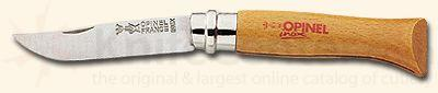 Opinel Folding Knife, 3.75 inch closed/stainless