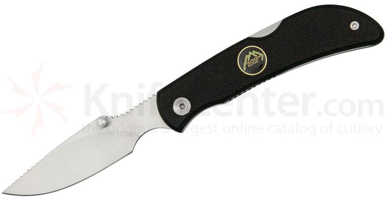 Outdoor Edge Caper-Lite Folding Knife 2.4 inch Satin Blade, Black/Green G10 Handles