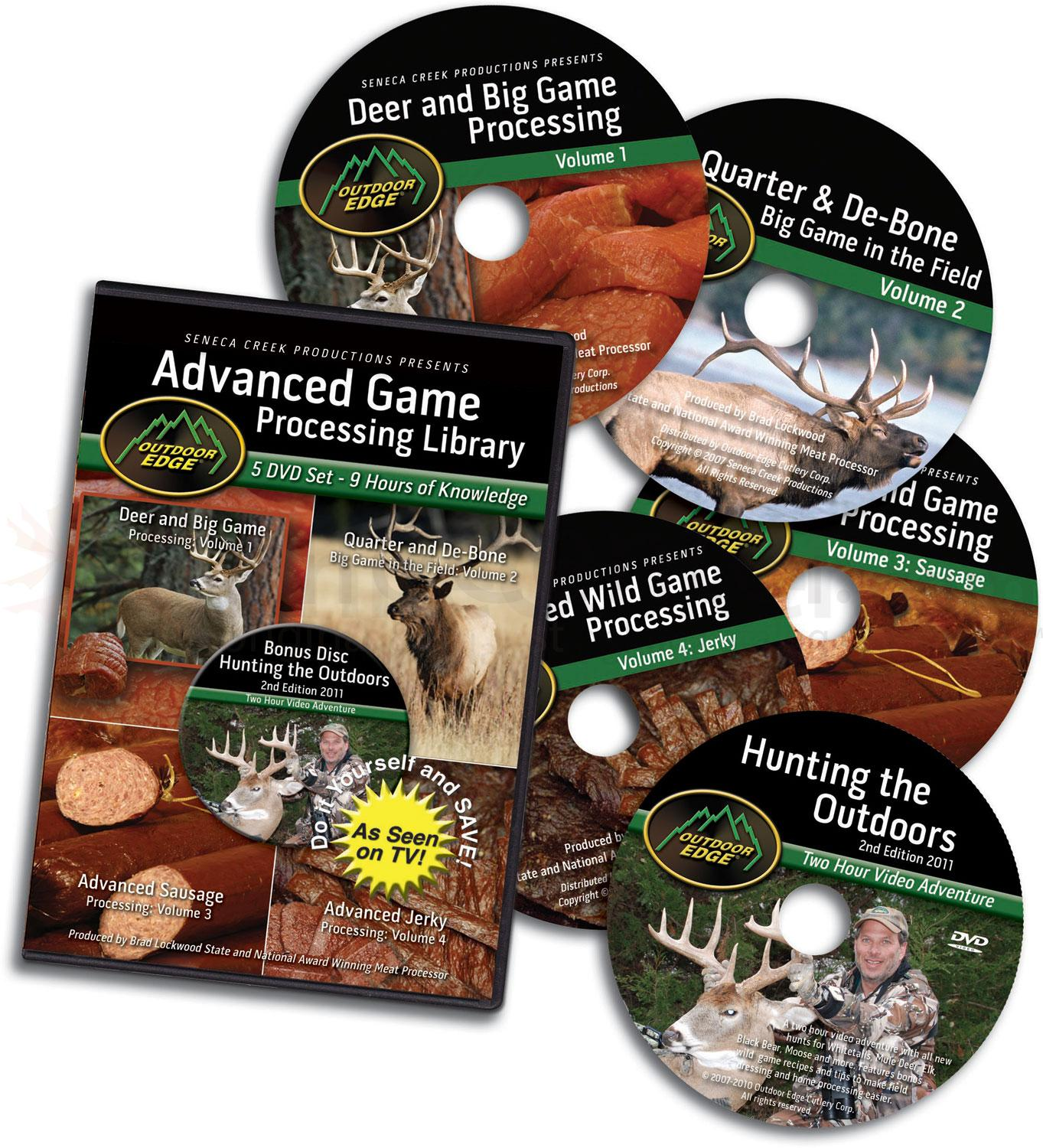 Outdoor Edge DVD Volumes 1-4: Advanced Wild Game Processing Library, Plus Bonus Hunting DVD