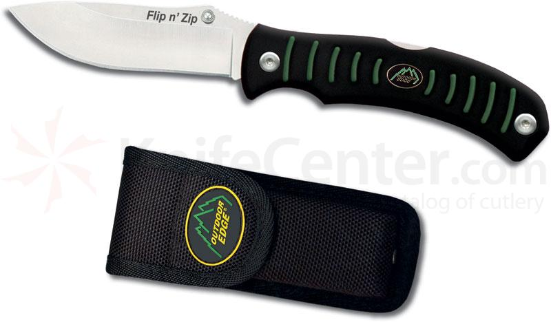 Outdoor Edge Flip n' Zip Folding Knife 3-1/2 inch Blade (Does Not Rotate)