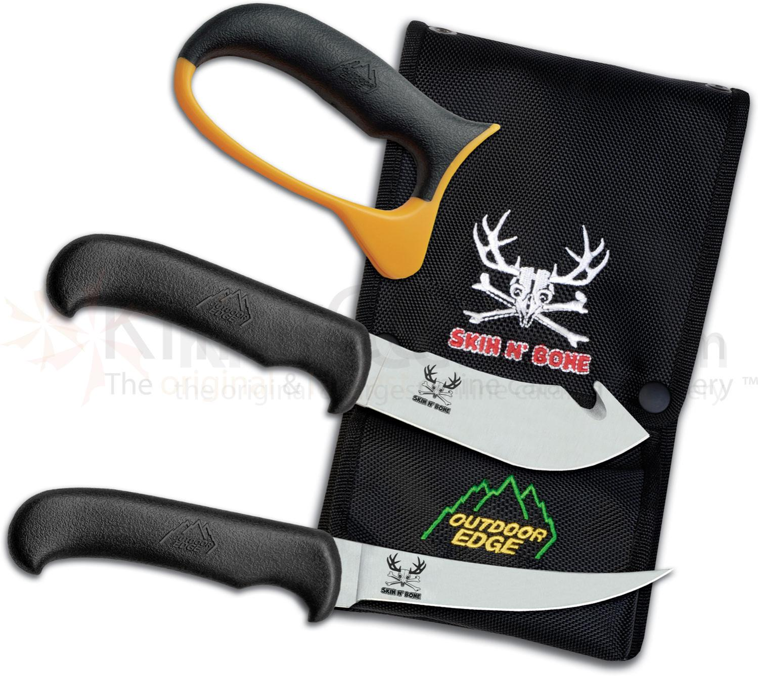 Outdoor Edge Skin n' Bone Hunter's Combo Set with Nylon Pouch