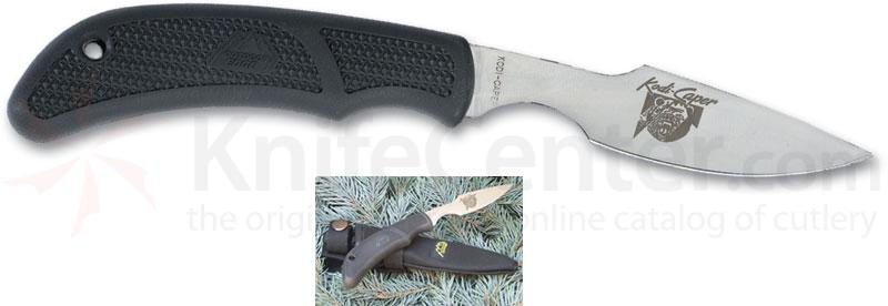 Outdoor Edge Kodi-Caper Fixed 2 1/2 inch Plain Edge Blade, Nylon Sheath