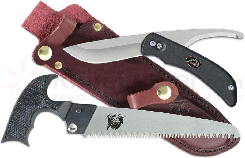 Outdoor Edge SwingBlade-Pak, Rotating 2-Blade Knife/Saw Combo, Black Handles
