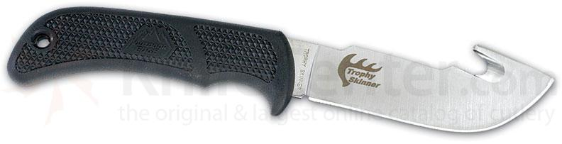 Outdoor Edge Trophy Gut Hook Skinner AUS-8 Steel 7-7/8 inch Overall w/ Leather Sheath