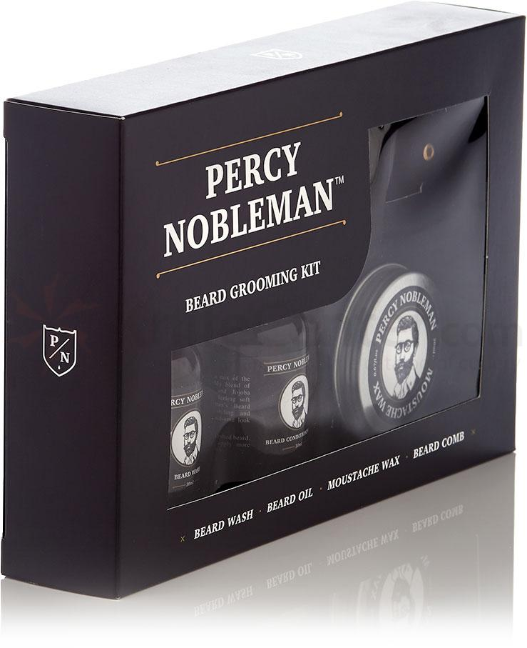percy nobleman beard grooming kit 30ml eye dropper bottles wax and mustache comb knifecenter. Black Bedroom Furniture Sets. Home Design Ideas