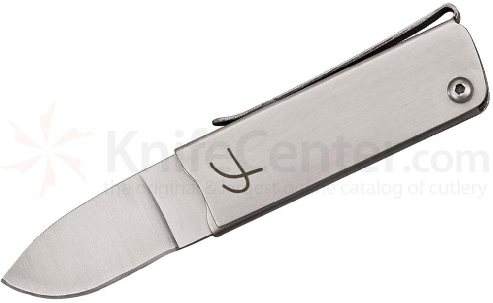 Fred Perrin Le Pititri Trifolder 1-3/4 inch 440C Plain Blade, Stainless Steel Handles