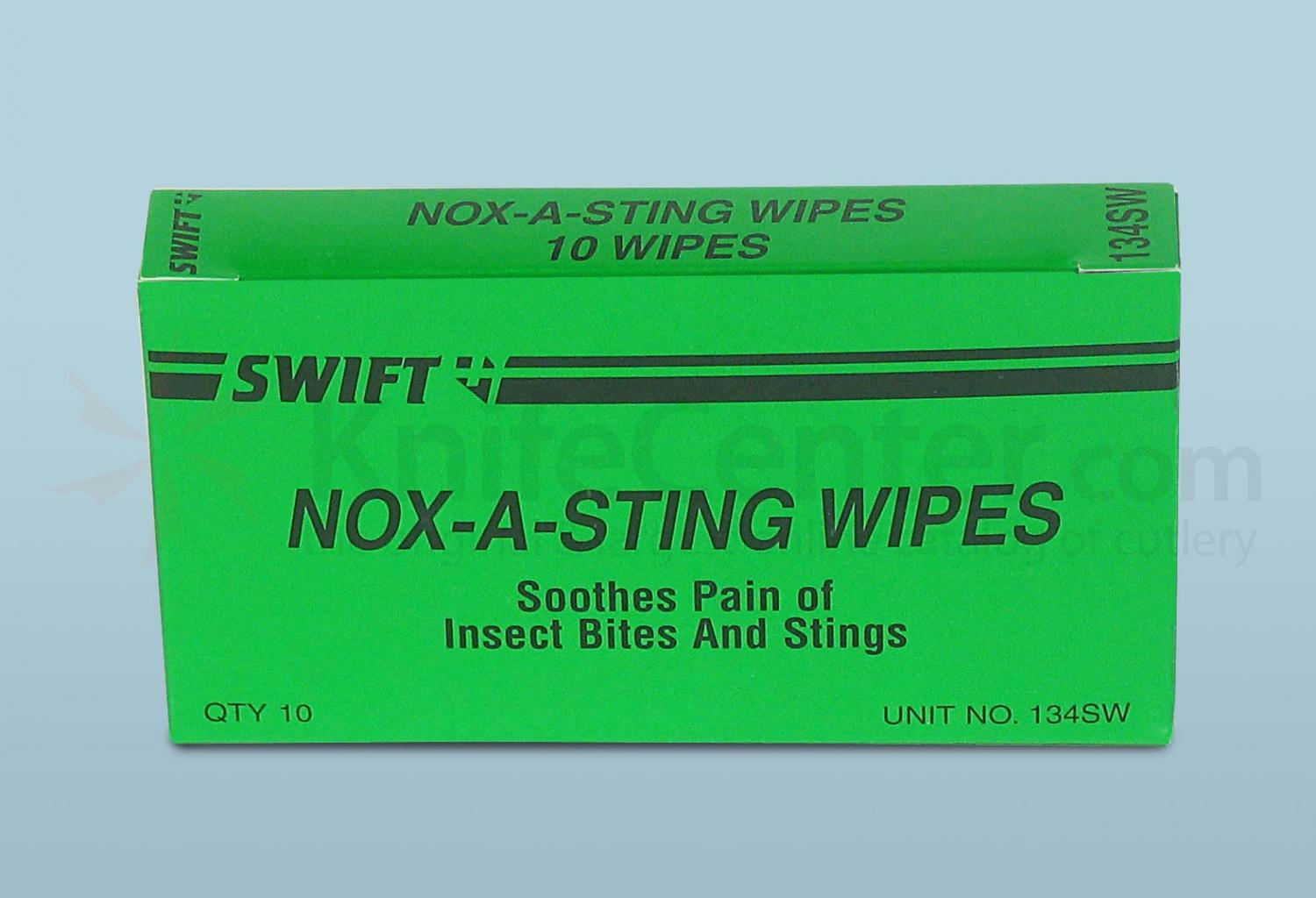 PhysiciansCare Brand Sting Relief Wipes, 10/box