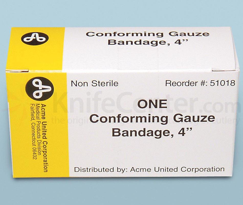 PhysiciansCare Brand 4 inch Conforming Gauze - 1/box