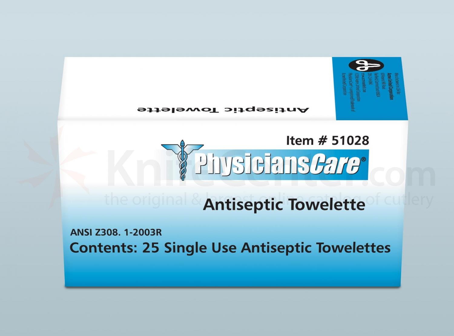 PhysiciansCare Brand Antiseptic Towel, 25/box