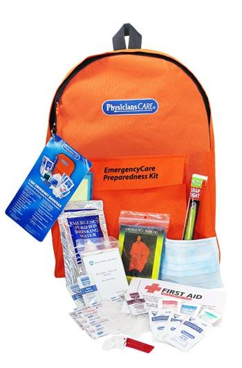 PhysiciansCare Brand EmergencyCare Backpack First Aid Kit