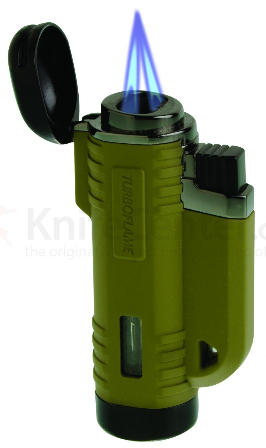 Turboflame VFlame Windproof Lighter, Matte Olive