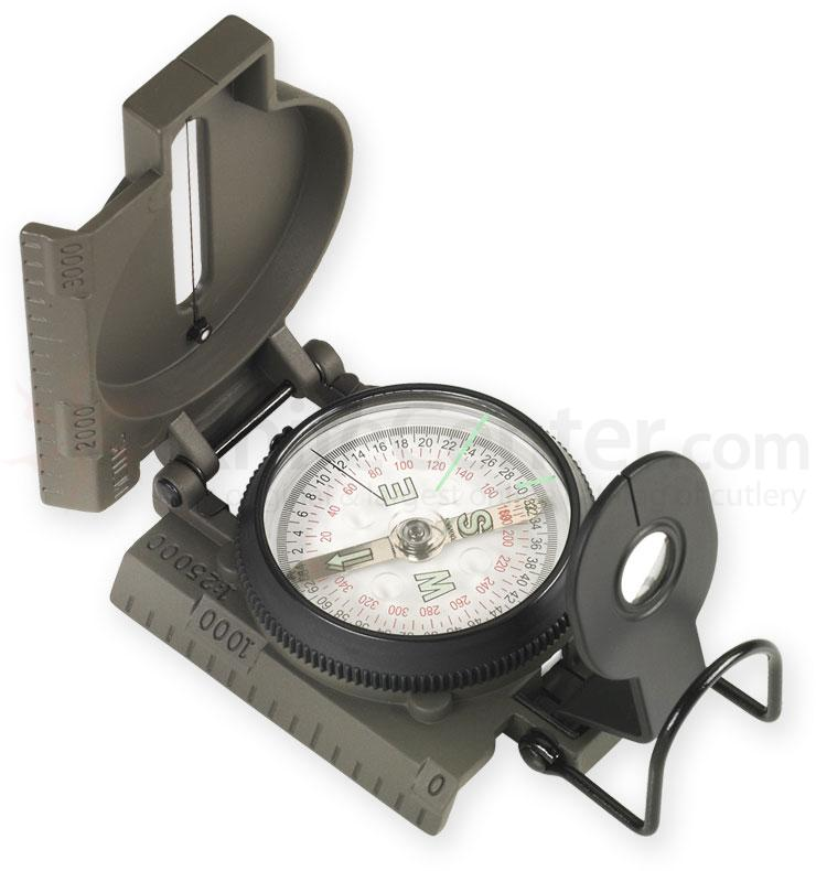 NDuR Lensatic Compass with Metal Case, Olive Drab