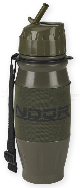 NDuR 28oz Flip Top Water Filtration Bottle, Olive