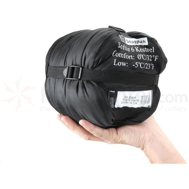 Snugpak Softie 6 Kestrel Black Right Hand Zip