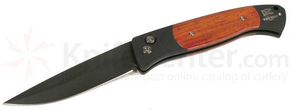 Protech Brend Design Automatic Black 4.5 inch Stainless Blade Cocobolo
