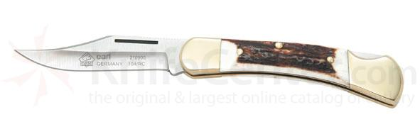 Puma Earl Folder Stag Handle 2.8 inch Stainless Blade