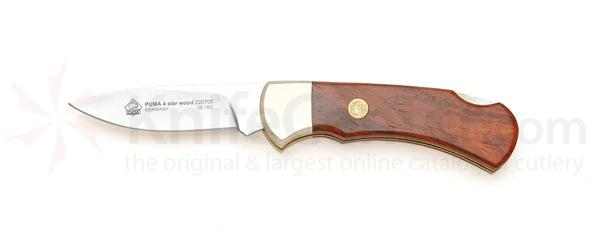 Puma 4 Star Folder Wood Handle 2.6 inch Stainless Blade