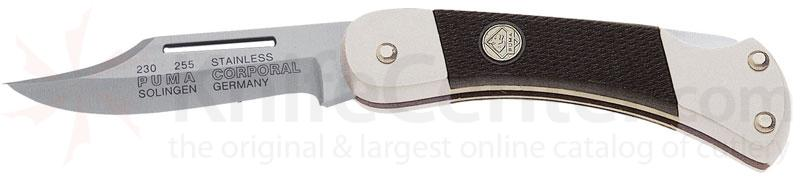 Puma Corporal Lockback Folder, Black ABS Scales, 2.2 inch Blade
