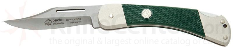 Puma Packer with Green Handle and 3.1 inch Stainless Steel Blade