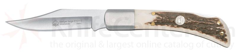Puma Large Badger with Stag Handle and 3.4 inch 440C Stainless Blade