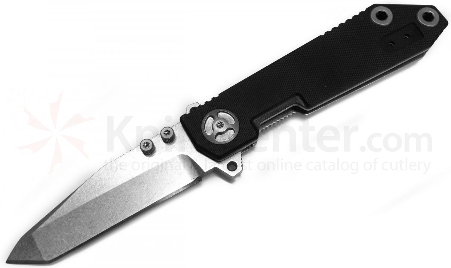 Quartermaster Knives QTRM5TR QTR-8 Pre-Production John Quayle  inchHiggins inch III 3.5 inch Tanto Blade, G10 Handle