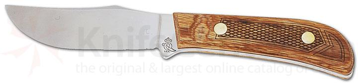 Queen Premium Skinner Hunter w/ D2 Steel 8 inch Overall, Oak Handle