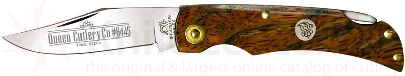 Queen Curly Zebra African Hardwood #8445CZ Small Lockblade, 3 inch Closed