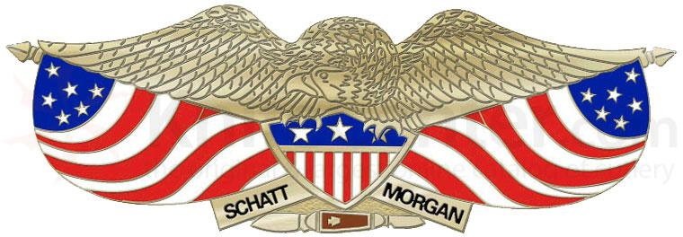 Queen Eagle Lapel Pin Includes Gift Box and Schatt & Morgan Logo