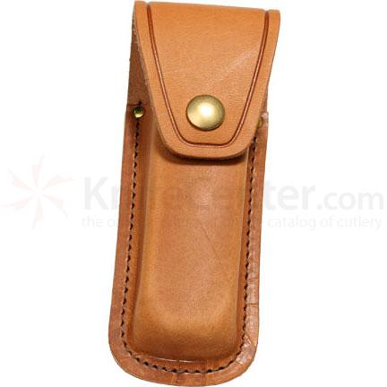 Queen Brown Leather Sheath for Small Folders, Fits 3 inch to 3 5/8 inch