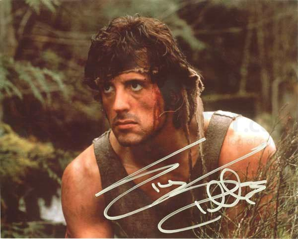 Rambo 1 Elicottero : Rambo first blood sylvester stallone signature edition