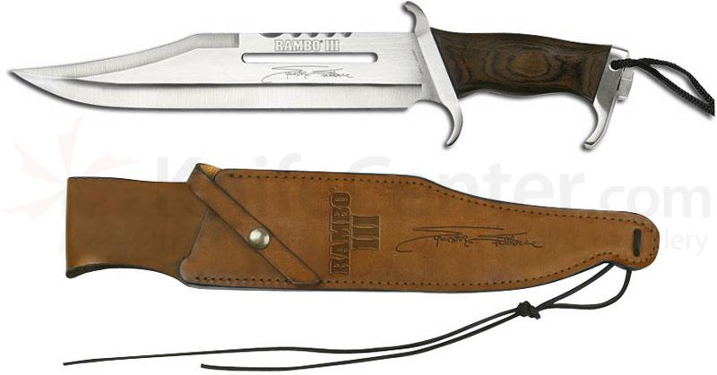 Rambo III Sylvester Stallone Signature Edition 13 inch Blade, Leather Sheath