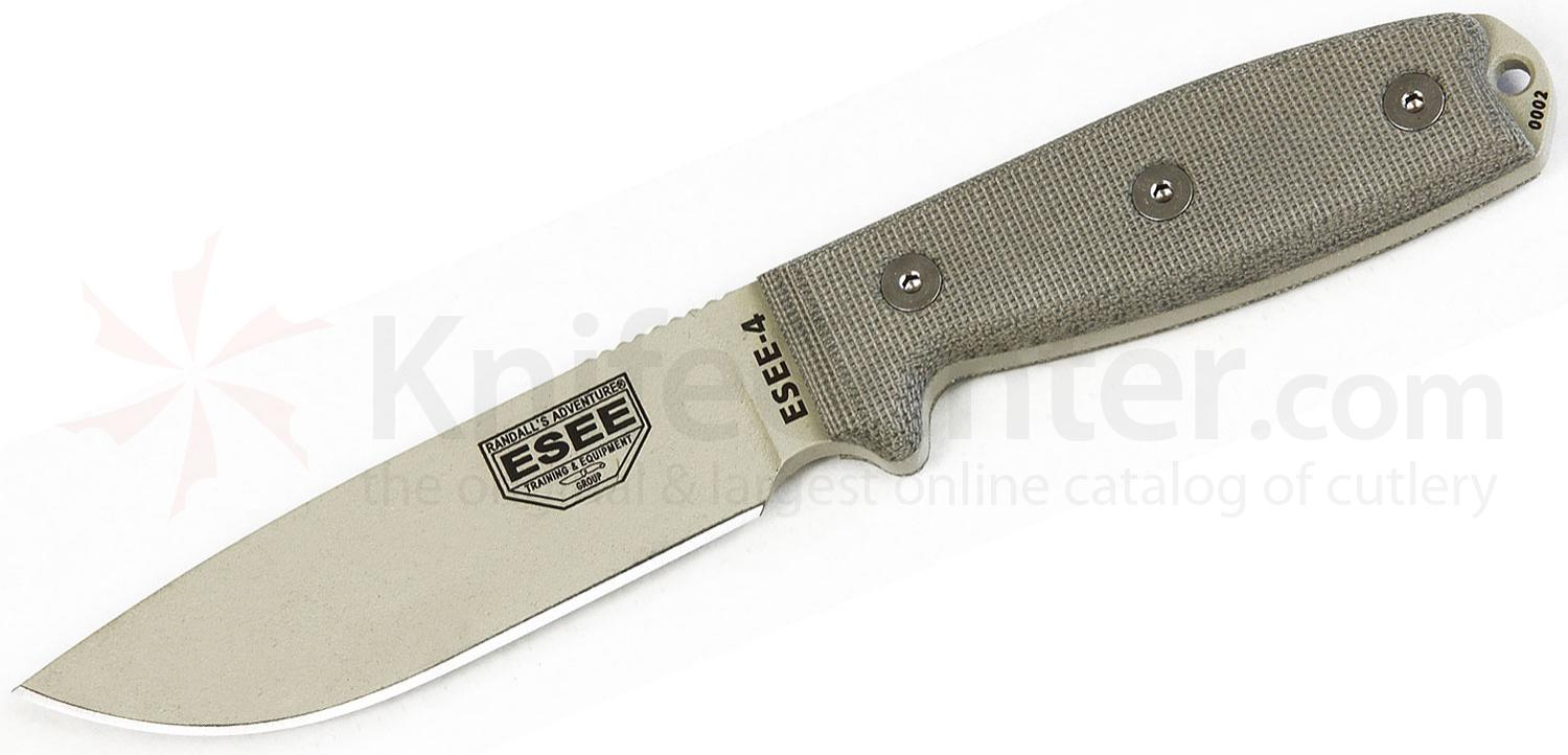 ESEE Knives ESEE-4P-KO-DT Plain Edge, Knife Only, No Sheath