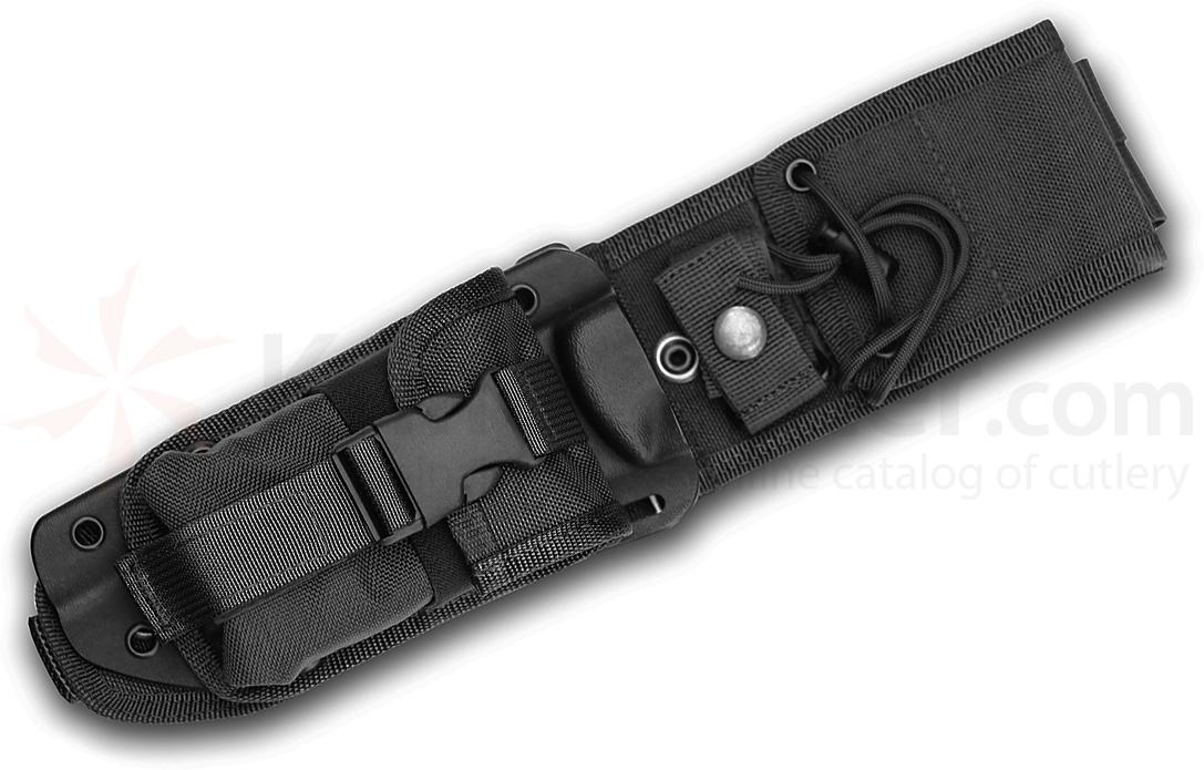 ESEE Knives ESEE-5-MBSP-B MOLLE Back, Kydex Sheath and Pouch Combo, Black, Assembled