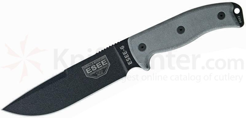 ESEE Knives ESEE-6P-CP-OD Sharpened Clip Point Plain Edge, OD Green Sheath, Clip Plate