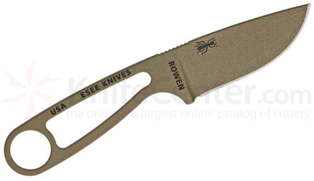 ESEE Knives IZULA (Dark Earth) Neck Knife Complete Survival Kit, 6.25 inch Overall