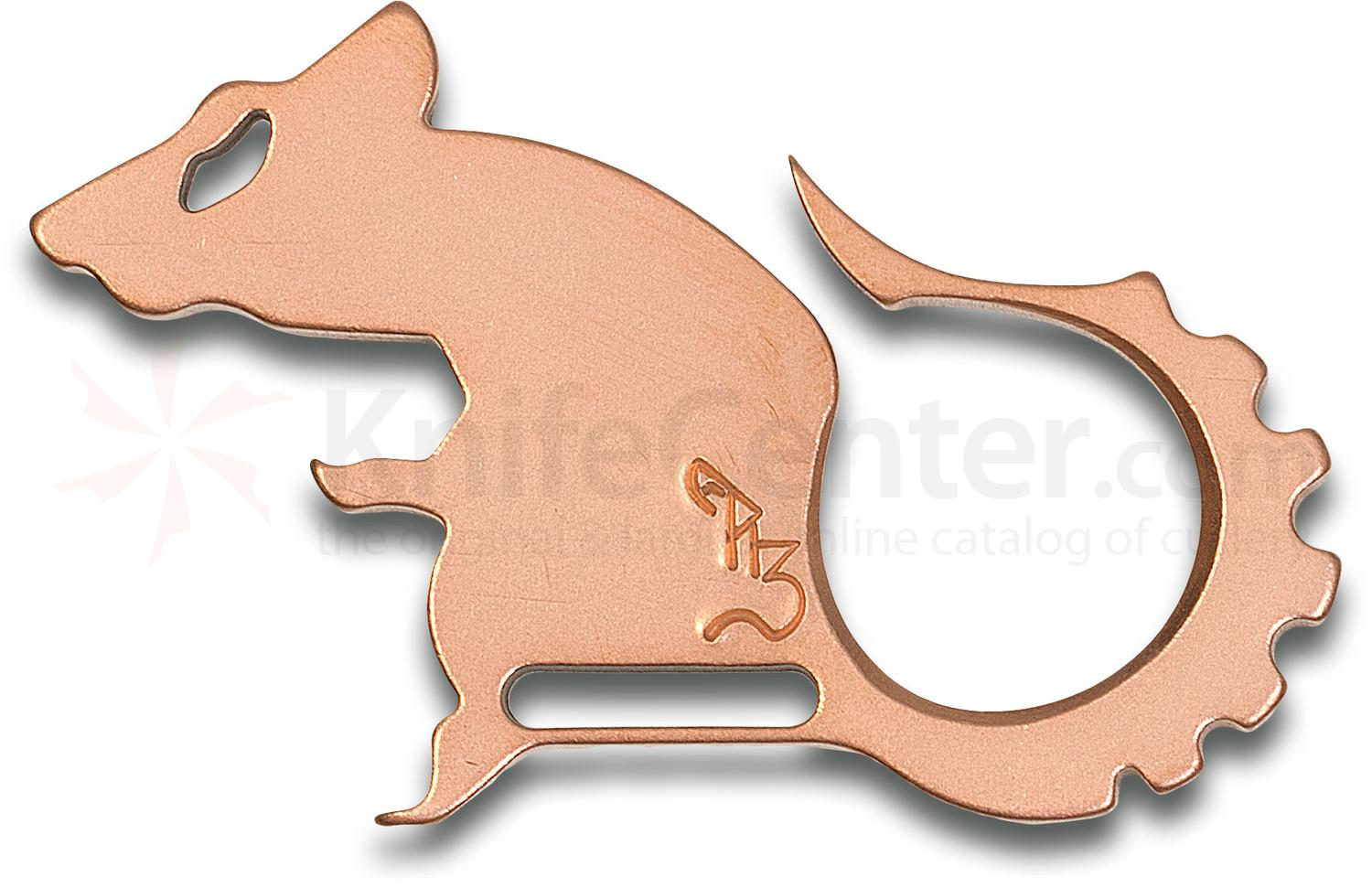 The Rat Bastard RB Tools and Design Tumbled Copper Rat Master Bottle Opener