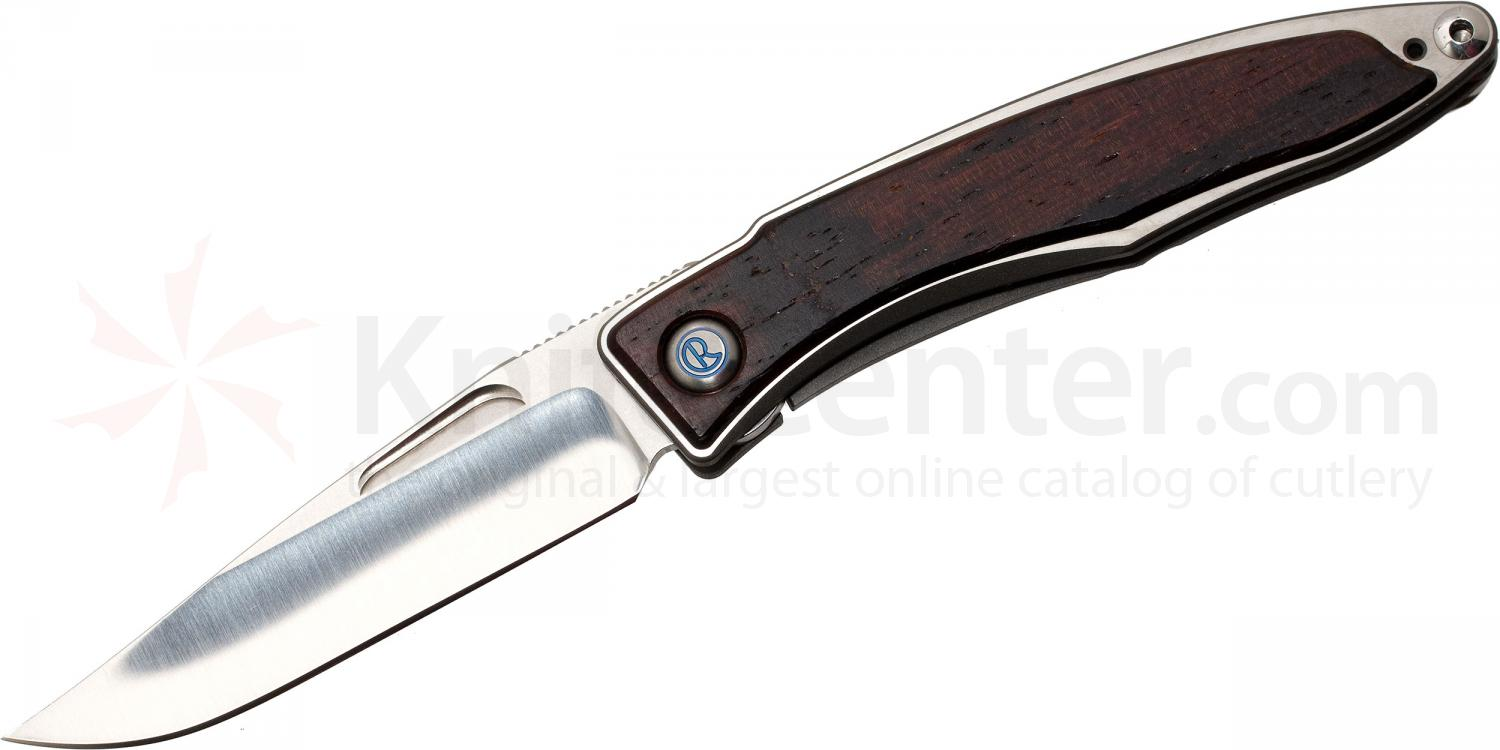 Chris Reeve Mnandi Folding Knife 2.75 inch S35VN Blade, Titanium Handles with Cocobolo Wood Inlays