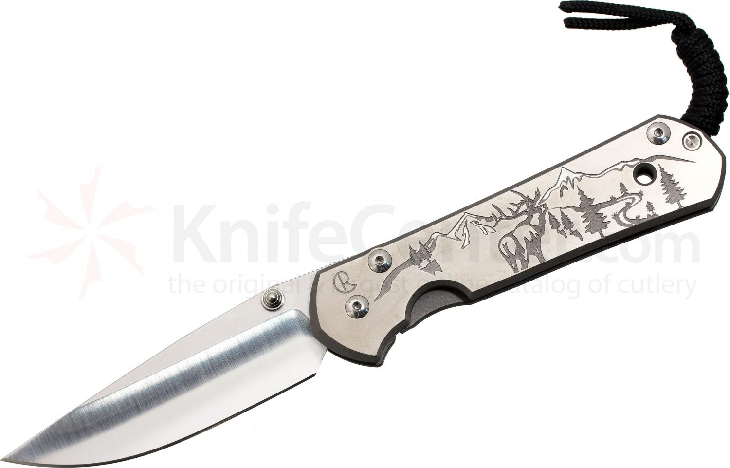 Chris Reeve Large Sebenza 21 Elk Mountain CGG 3.625 inch S35VN Blade, Titanium Handles DISCONTINUED VERSION, LIMITED AVAILABILITY