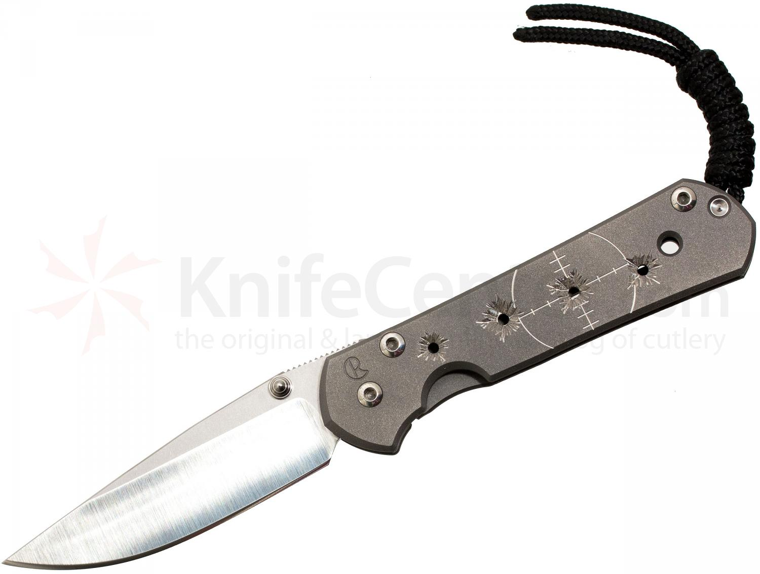 Chris Reeve Small Sebenza 21 Riddled CGG 2.94 inch S35VN Blade, Titanium Handles DISCONTINUED VERSION, LIMITED AVAILABILITY