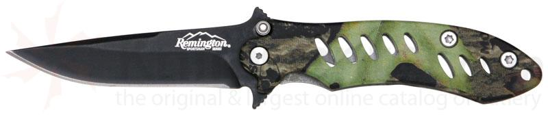 Remington Sportsman F.A.S.T. Large Folder Mossy Oak Obsession Camo with 3-5/8 inch Serrated Black Blade
