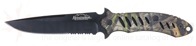 Remington Sportsman F.A.S.T. Fixed Mossy Oak Obsession Camo with 5-3/8 inch Serrated Black Blade